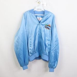 80s Mens 2XL Westward Ho Las Vegas Satin Jacket